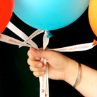 Personalize Ribbon Balloon Ties