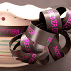 Brown Custom Logo Ribbon for Pottery