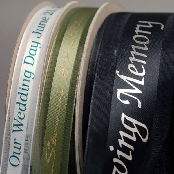 Sheer Edge Garbo Customized Printed Ribbon