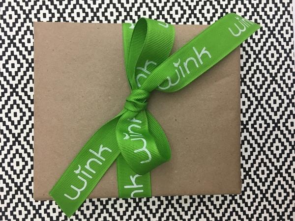 """Green Printed Grosgrain Ribbon - 7/8"""""""