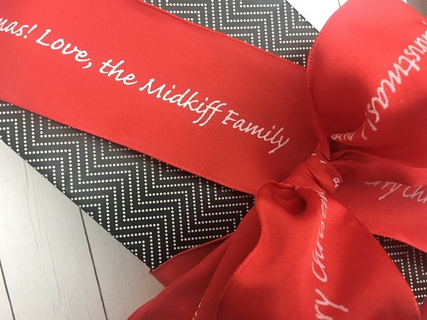 Personalized Red Wire Ribbons